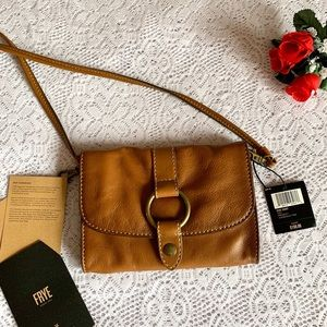 NWT Frye Tan Leather CrossBody Bag